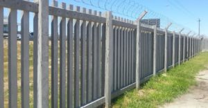 Concrete Palisade Fencing White City Chrissiesmeer
